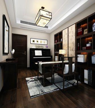 140平米四室两厅中式风格书房吊顶欣赏图