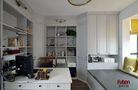 110平米三室两厅法式风格书房效果图