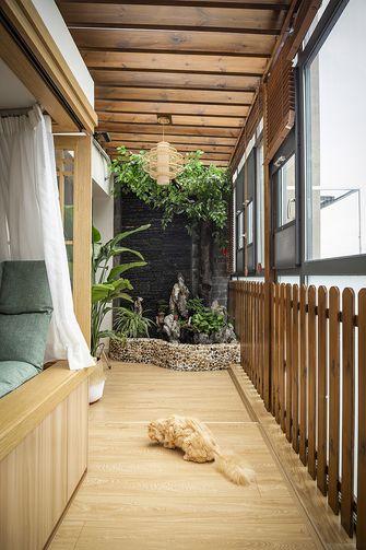 90平米三室一厅日式风格阳台图片大全