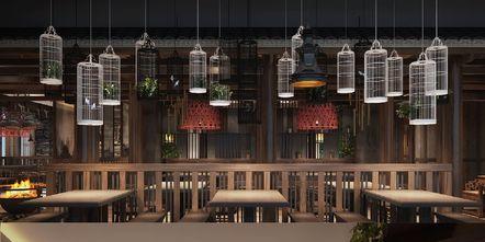 140平米中式风格餐厅图片