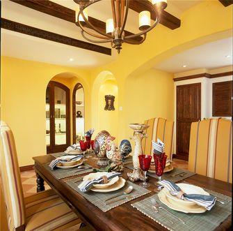 80平米三室两厅地中海风格餐厅欣赏图
