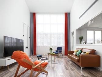 130平米复式北欧风格客厅图
