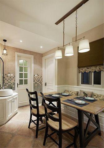140平米三室两厅美式风格餐厅家具图片