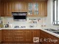 经济型140平米三室两厅美式风格厨房家具装修效果图