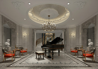 140平米别墅法式风格影音室装修图片大全
