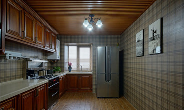 10-15万110平米三室三厅地中海风格厨房图片