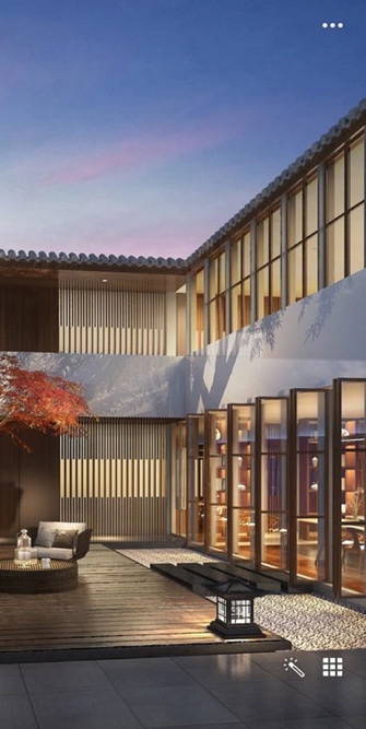 140平米中式风格阳台设计图