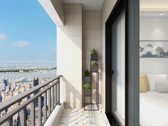 60平米一室两厅现代简约风格阳台效果图