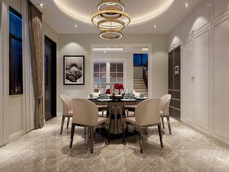 140平米别墅现代简约风格餐厅背景墙装修效果图