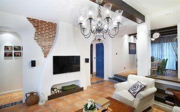 110平米三室一厅地中海风格客厅图片大全