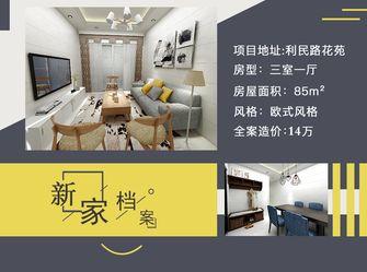 80平米三室一厅欧式风格其他区域图