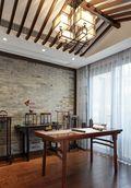 140平米别墅中式风格书房壁纸欣赏图
