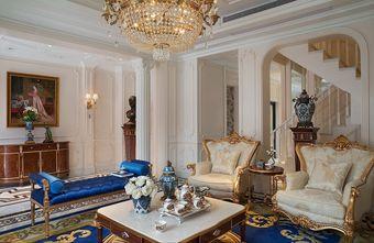 富裕型140平米三室两厅法式风格客厅装修案例