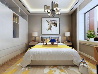 90平米三室两厅现代简约风格卧室背景墙装修效果图