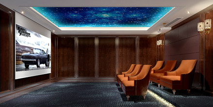 140平米别墅法式风格影音室装修效果图