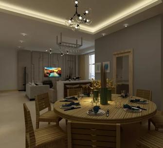 140平米一居室现代简约风格餐厅装修图片大全