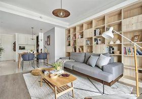 80平米三室兩廳北歐風格客廳裝修效果圖