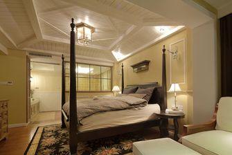 120平米三室一厅田园风格卧室设计图
