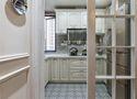 120平米三室两厅美式风格厨房橱柜装修效果图