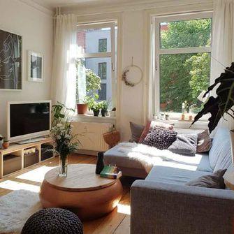70平米一室一厅田园风格客厅欣赏图