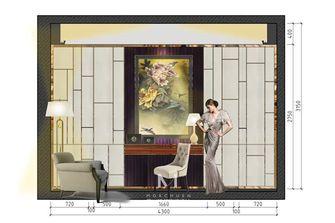 豪华型140平米三室两厅现代简约风格卧室欣赏图