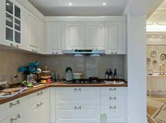 130平米三室一厅新古典风格厨房图片
