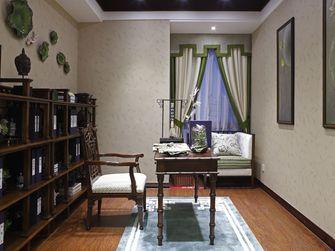 80平米三室两厅中式风格书房装修效果图
