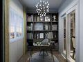 140平米四室一厅欧式风格书房设计图