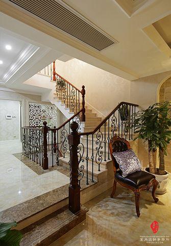 富裕型140平米别墅欧式风格楼梯图片