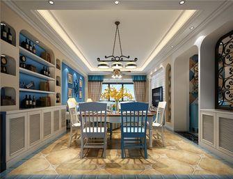 130平米三室一厅地中海风格餐厅图片
