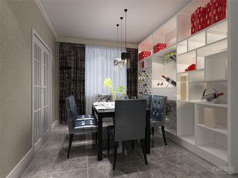 140平米三室两厅现代简约风格餐厅背景墙欣赏图