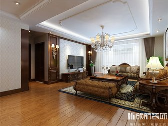 130平米四室两厅新古典风格客厅图片大全