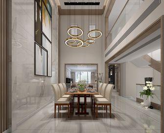 豪华型140平米别墅现代简约风格餐厅背景墙图片