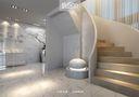 豪华型140平米别墅现代简约风格楼梯装修案例