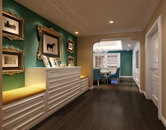 豪华型140平米四室三厅新古典风格走廊图片大全
