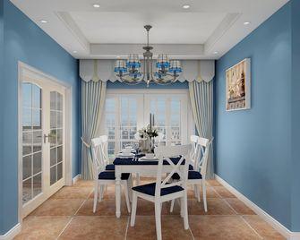 80平米三室两厅地中海风格餐厅效果图