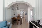 110平米三室两厅田园风格走廊设计图