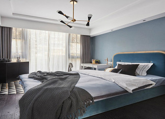 90平米三现代简约风格卧室图