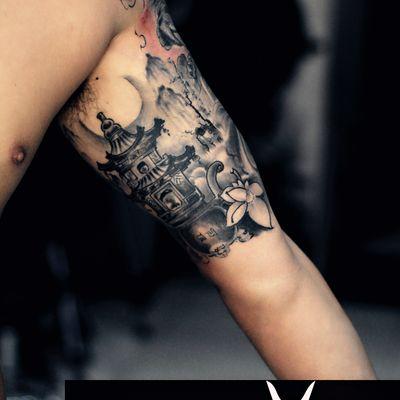 包大臂纹身款式图