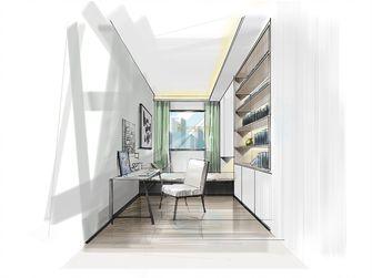 80平米三室两厅田园风格书房图片