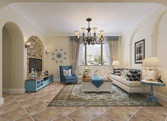 90平米一居室地中海风格客厅设计图
