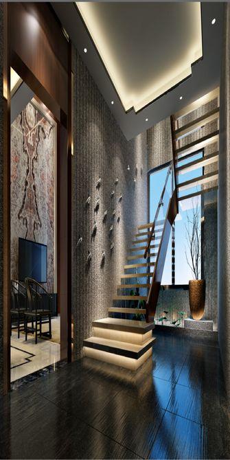 富裕型120平米复式混搭风格楼梯图