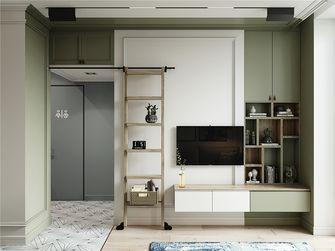 富裕型60平米一室一厅北欧风格客厅图