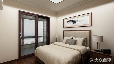 120平米三室一厅中式风格卧室图片大全