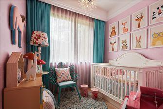 80平米三室两厅田园风格儿童房欣赏图
