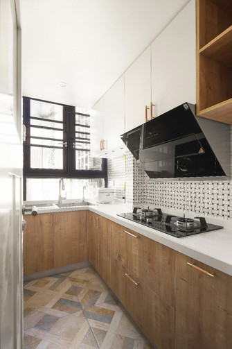 80平米三室两厅日式风格厨房欣赏图