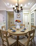80平米三室一厅田园风格餐厅装修图片大全