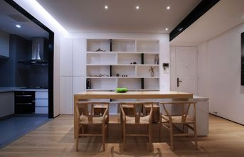 100平米三室三厅现代简约风格餐厅图片