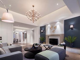 110平米三室两厅现代简约风格客厅欣赏图