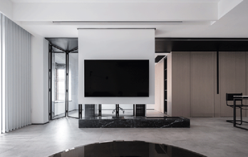 130平米现代简约风格客厅装修效果图